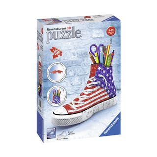 Sneaker American Style 3D Puzzle: 108 Pcs|https://ak1.ostkcdn.com/images/products/16000611/P22394521.jpg?impolicy=medium
