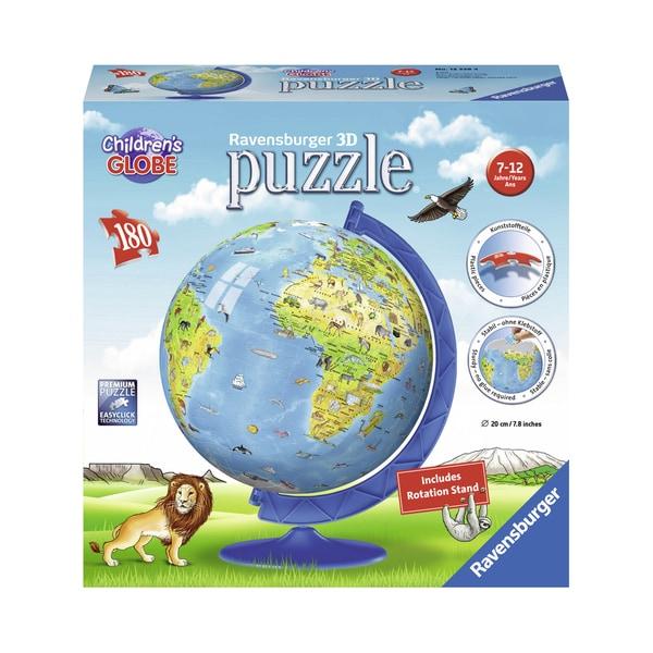 Children's 3D World Globe Puzzle: 180 Pcs