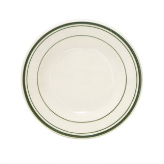 """Tuxton Home Green Bay Striped Wide Rim Salad Plate 7-1/8"""" - Set of 4"""