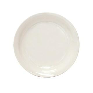 "Tuxton Home Nevada Narrow Rim Dinner Plate 10 1/2"" American White (Eggshell) - Set of 4"