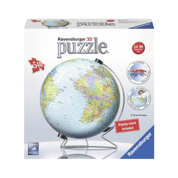 The Earth 3D World Globe Puzzle: 540 Pcs