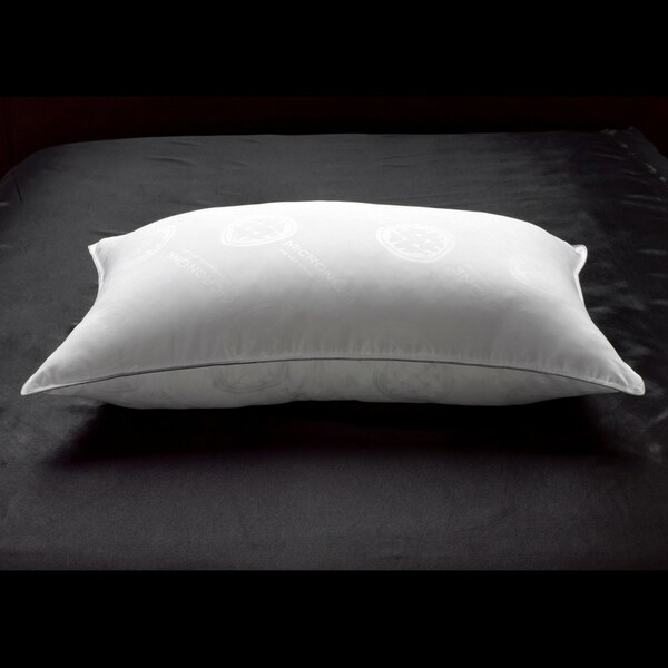 MicronOne Deluxe White Goose Down FIRM Pillow for Side/Back Sleepers