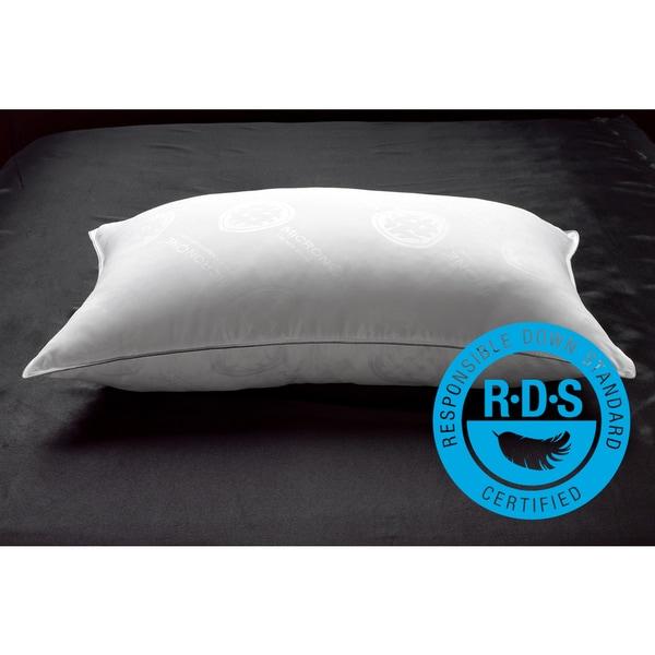 MicronOne White Down Firm Pillow