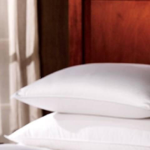 1221 Bedding Premium Luxury German Batiste Siberian Goose Down Pillow - White