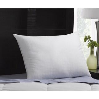 100-percent Cotton Dobby Box Memory Fiber Pillow - White