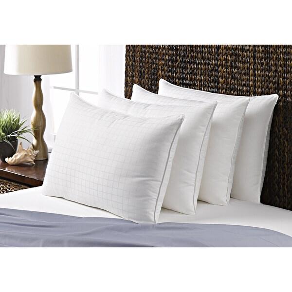 100-percent Cotton Dobby Box Medium Density Pillow (Set of 4) - White