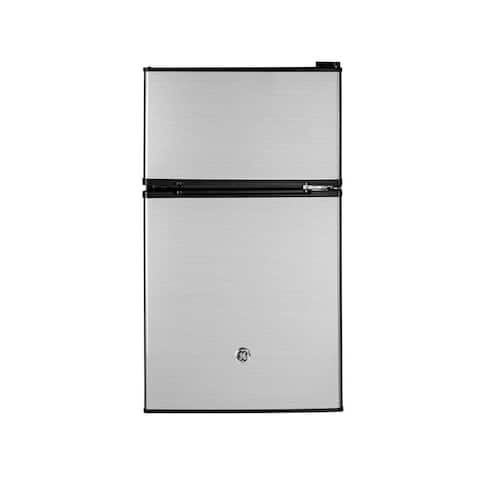 GE 3.1 Cu. Ft. Mini Refrigerator, Stainless Steel