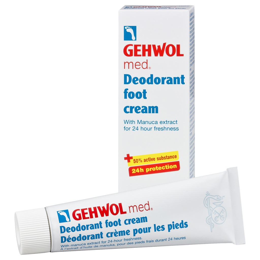 Gehwol Med 2.6-ounce Deodorant Foot Cream, White