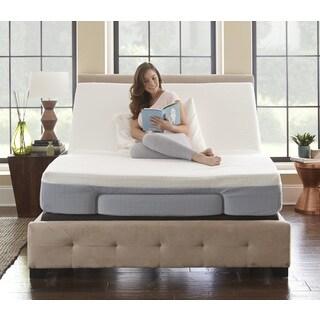 sleep sync 8inch queensize memory foam mattress and adjustable foundation set