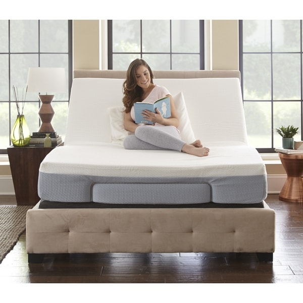 sleep sync 8 inch twin xl size memory foam mattress and adjustable foundation set free. Black Bedroom Furniture Sets. Home Design Ideas