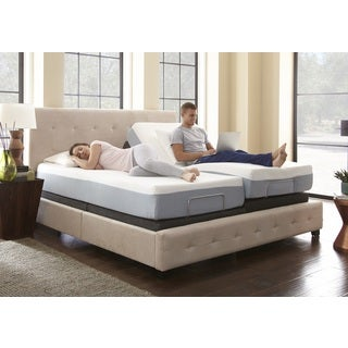 Sleep Sync 8-inch Split King-size Memory Foam Mattress and Adjustable Foundation Set