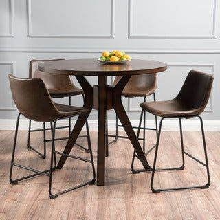 Evadne Counter Height 5-piece Dining Set by Christopher Knight Home