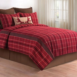 Collin Rustic Plaid Cotton Quilt (Shams Not Included)