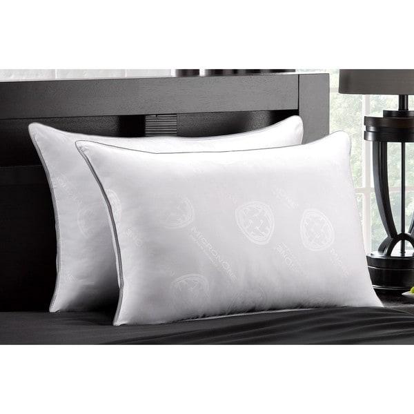 MicronOne Deluxe Medium Density Pillow (Set of 2) - White