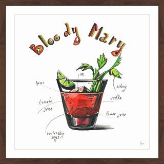 'Bloody Mary Recipe' Framed Painting Print