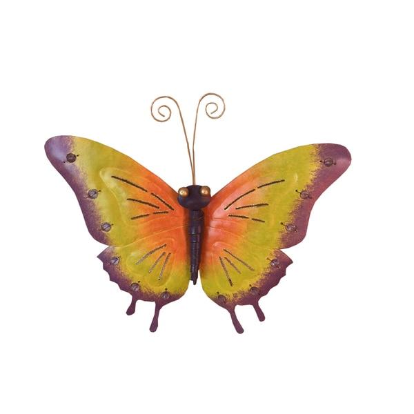 Handmade D-Art Iron Butterfly Wall Decor (Indonesia). Opens flyout.