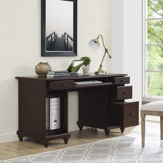 Crosley Furniture Palmetto Espresso Finish Wood Computer Desk