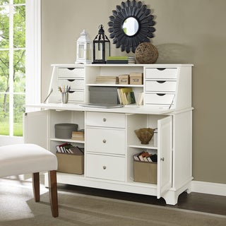 Crosley Sullivan White Secretary Desk