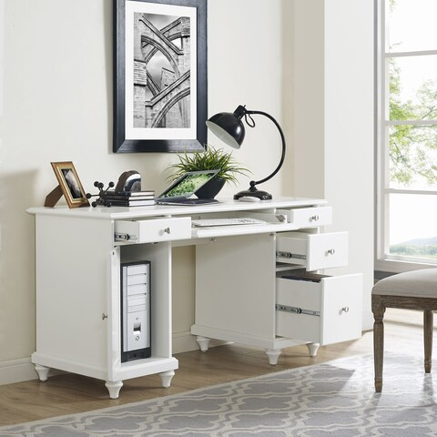 Palmetto White Computer Desk