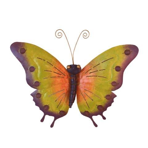 Handmade D-Art Iron Butterfly Wall Decor (Indonesia)