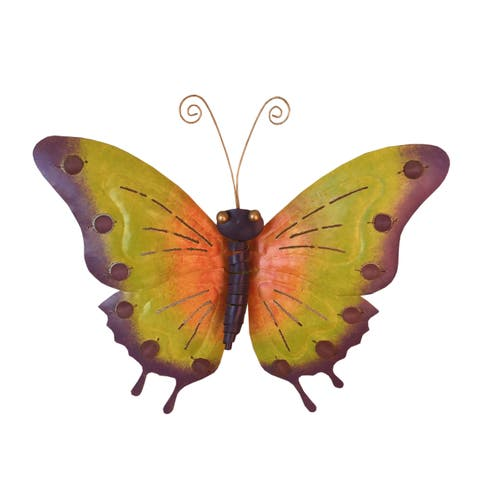 Handmade Iron Butterfly Wall Décor Large (Indonesia)