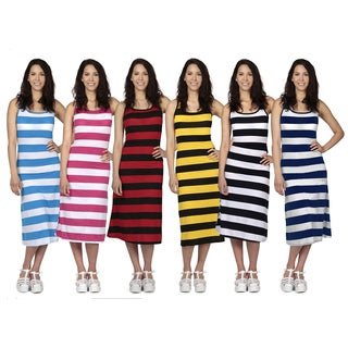 Women's Stylish Striped Midi Dress