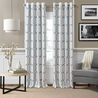 Kaiden Geometric Room Darkening Window Curtain