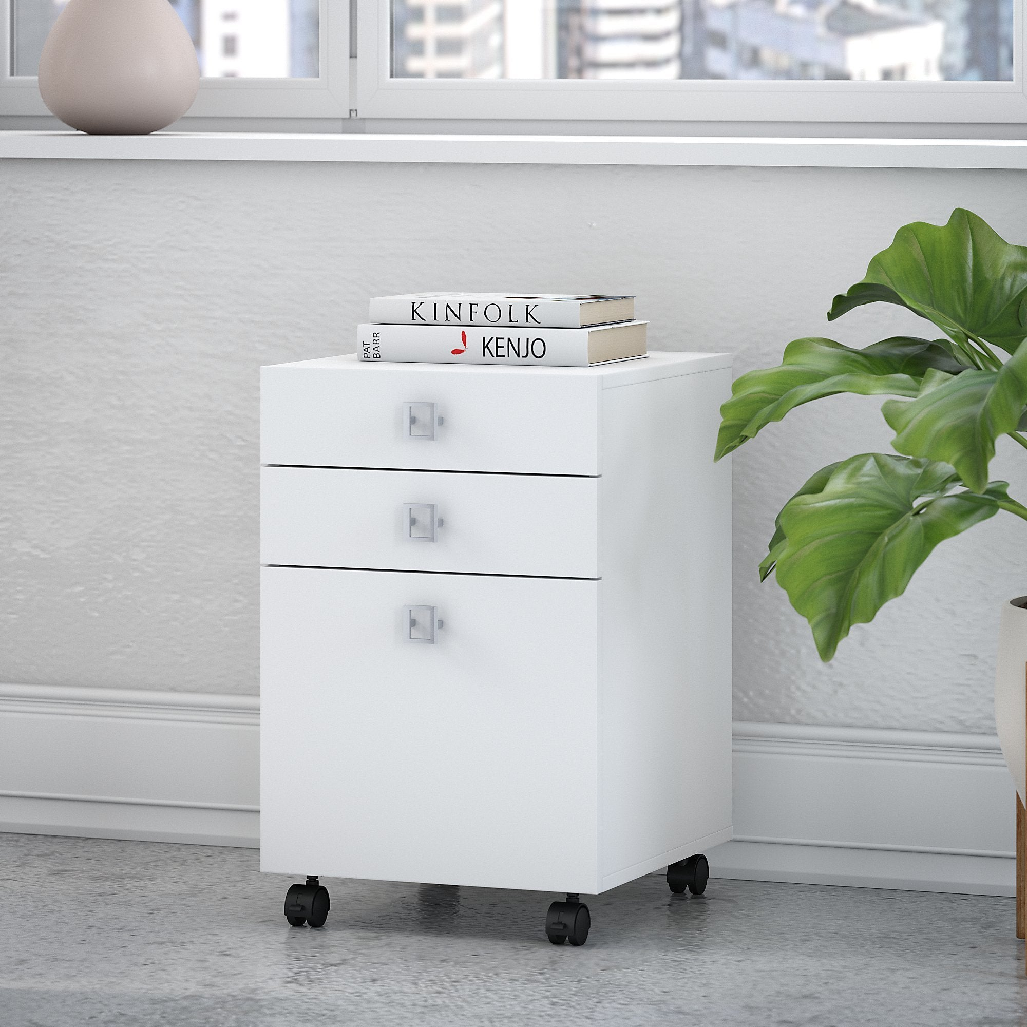 Office by kathy ireland Echo 3 Drawer Mobile File Cabinet...