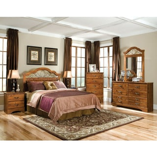 Cambridge Venice Natural Finish Wood Five-drawer Chest