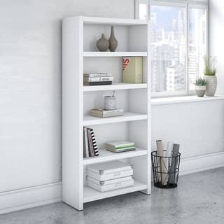 Office by kathy ireland Echo 5 Shelf Bookcase|https://ak1.ostkcdn.com/images/products/16003485/P22396836.jpg?impolicy=medium