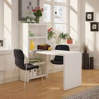 Office by kathy ireland Echo 56W Dining Table in Pure White