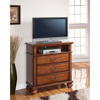 Cambridge Raleigh Brown Wood Media Chest