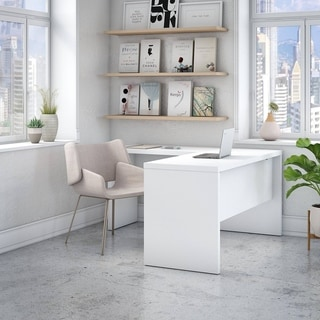 Link to Echo L Shaped Desk from Office by kathy ireland® Similar Items in Desks & Computer Tables