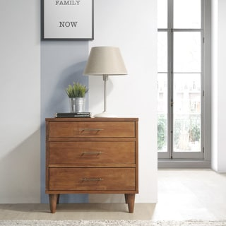 Ana Oak 3-Drawer Night stand