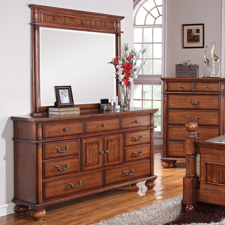 Cambridge Raleigh Brown Wood 9-drawer Dresser (Chestnut)