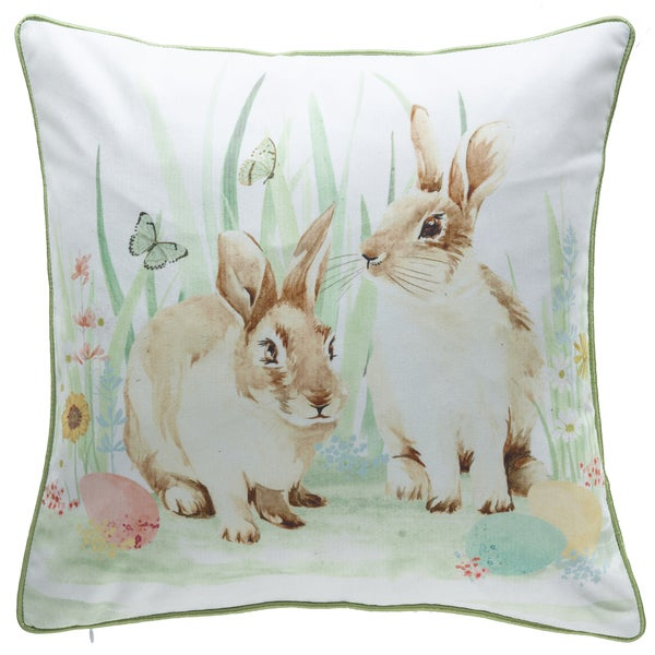 Raz 18 Colorful Bunny Easter Pillow: Shop Easter Bunny White/Multicolored 18-inch X 18-inch