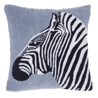 Safari Zebra Acrylic 18-inch x 18-inch Throw Pillow