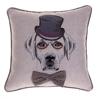 Distinguished Dog Walter Beckingdale 18-inch x 18-inch Throw Pillow