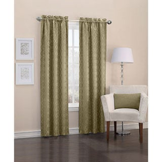 Sun Zero Viviana Woven Trellis Energy Efficient Thermal Insulated Rod Pocket Curtain Panel
