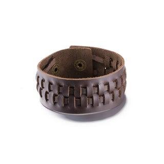 Hakbaho Jewelry Brown Interwoven Sleek Bracelet