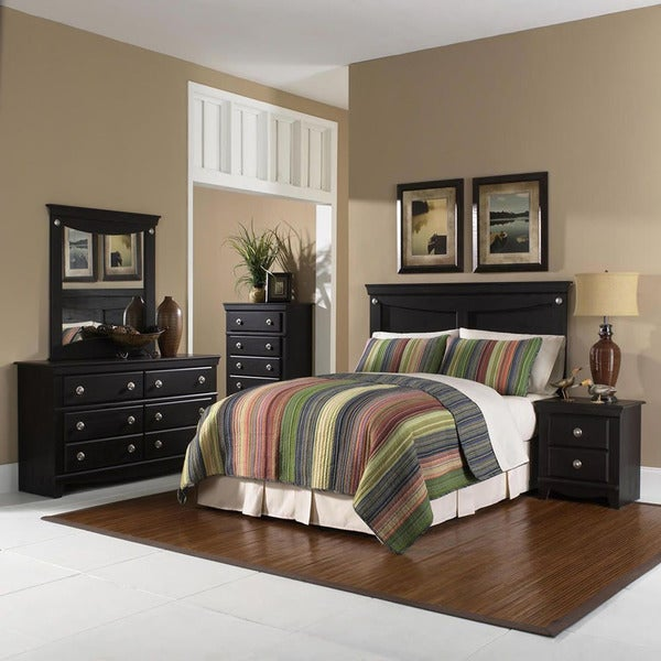 Shop Cambridge Southampton Brown Wood 5 Piece Bedroom Suite Free Shipping Today Overstock