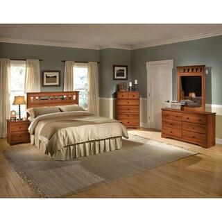 Cambridge Seasons Five Piece Bedroom Suite: Queen Bed, Dresser, Mirror, Chest, Nightstand