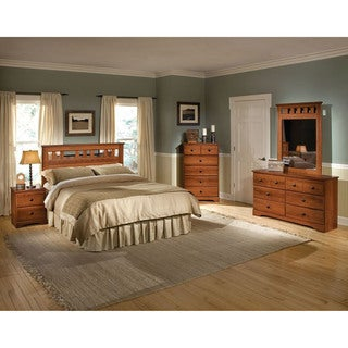 Cambridge Seasons Five Piece Bedroom Suite: Queen Bed, Dresser, Mirror, Chest, Nightstand