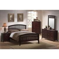 Cambridge Saranda Five Piece Bedroom Suite: King Bed, Dresser, Mirror, Chest, Nightstand