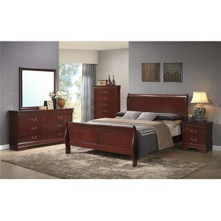 Cambridge Piedmont 5 Piece Bedroom Suite: Full Bed, Dresser, Mirror, Chest, Nightstand