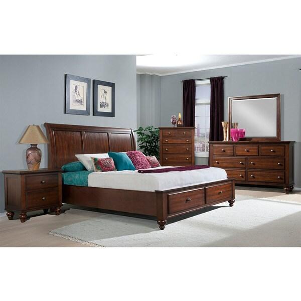 Superb Cambridge Newport Storage Five Piece Bedroom Suite: King Bed, Dresser,  Mirror, Chest