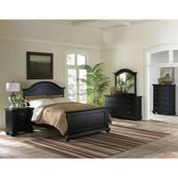 Cambridge Hyde Park Black Wood 5-piece Bedroom Suite