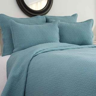 Link to Manchester Aegean Cotton 3 Piece Quilt Set - Twin 2 Piece Similar Items in Quilts & Coverlets