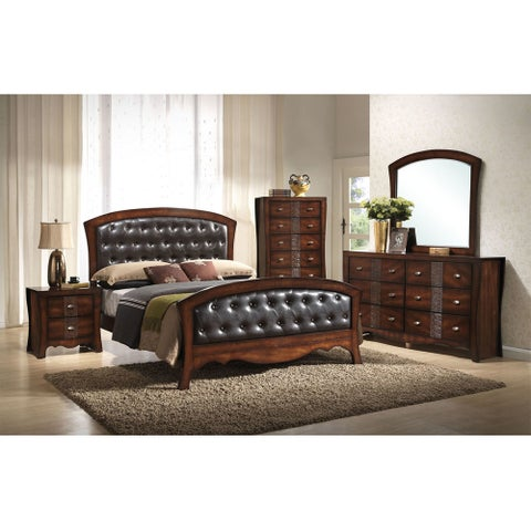 Cambridge Fairmount Espresso Wood 5-piece Bedroom Suite with King Bed, Dresser, Mirror, Chest, and Nightstand