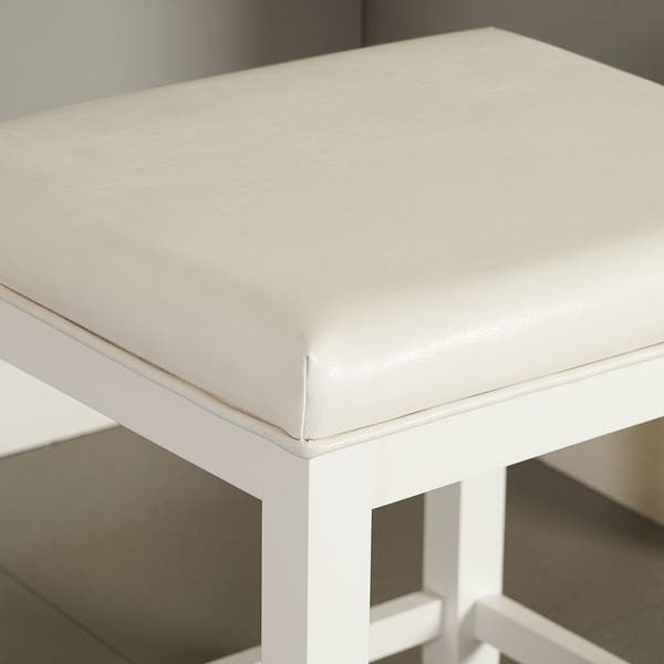 Enjoyable Shop Vista Vanity Stool In White Free Shipping Today Alphanode Cool Chair Designs And Ideas Alphanodeonline